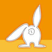 复活节兔子回来 — 图库矢量图片