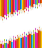 Color pencil set seamless background. — Stock Vector