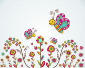 Spring nice flower background — Stock Vector