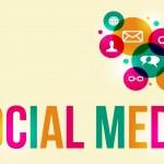 Social media background — Stock Vector