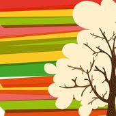 Multicolor tree background — Stock Vector