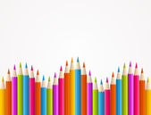 Colorful rainbow pencil pattern — Stock Vector