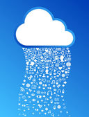 Cloud computing icon background — Stock Vector