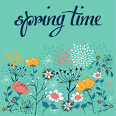 Spring time flower background — Stock Vector