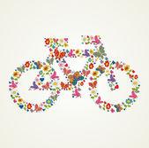Go green spring icon bike — Stock Vector
