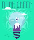Green idea concept — Stock Vector