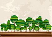 Multicolor forest landscape — Stock Vector
