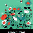 Royalty-Free Stock Vector Image: Spring time garden background