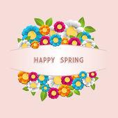 Happy spring flower card — Stock Vector