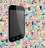 Iphone social media icon background — Stock Vector