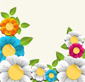 Colorful nice flower background — Stock Vector