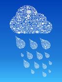 Cloud computing social media background — Stock Vector