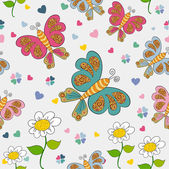 Spring seamless pattern — Stock Vector