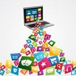 Online social media applications — Stock Vector #27643913