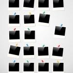 Polaroid photo frame background — Stock Vector #27640441