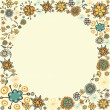 Spring vintage flower circle card background — Stock Vector