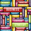 Business strategy concept pattern — Stockvektor