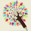 Diversity hand concept pencil tree — Stock Vector #27641721