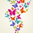 Butterfly colorful splash — Stock Vector