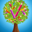 Cute pencil tree design — Stock Vector #27642617