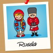 Russia travel polaroid — Stock Vector