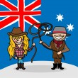 Welcome to Australia — Image vectorielle