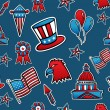 USA seamless pattern background — Stock Vector