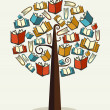 Stock Vector: Concept books tree