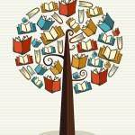 Concept books tree — Stock Vector