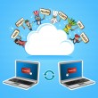 Cloud computing translate concept — Stockvektor