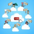 Cloud community translate concept — Imagen vectorial