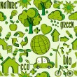 Green environment icons pattern — Stock Vector