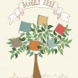 Vintage colors instant photo tree — Stock Vector