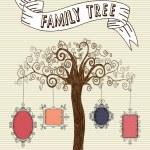 ramki Vintage drzewo — Wektor stockowy  #27643821