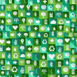 Green environment icons seamless pattern background — Stock Vector #27643855
