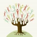 Embrace diversity tree set — Stock Vector #27644117