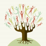 Embrace diversity tree set — Stock Vector