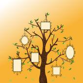Vintage memories tree — Stock Vector