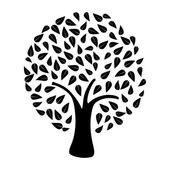 Tree silhouette isolated — Stock Vector