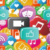 Social media colorful pattern — Stock Vector
