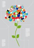 Techno flower concept — Stock Vector
