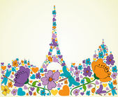 Springtime Paris — Stock Vector