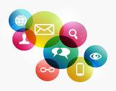 Colorful social network concept — Stock Vector