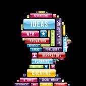 Internet creative ideas profile — Stock Vector
