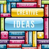 Modello del concetto di idee creative — Vettoriale Stock
