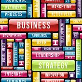 Modello concetto di strategia aziendale — Vettoriale Stock