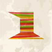 Vintage multicolor nummer één — Stockvector