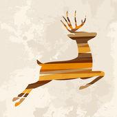 Vintage multicolor reindeer — Stock Vector