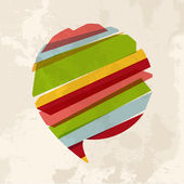 Vintage multicolor zeepbel chat — Stockvector