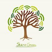 Green concept tree — Stock Vector